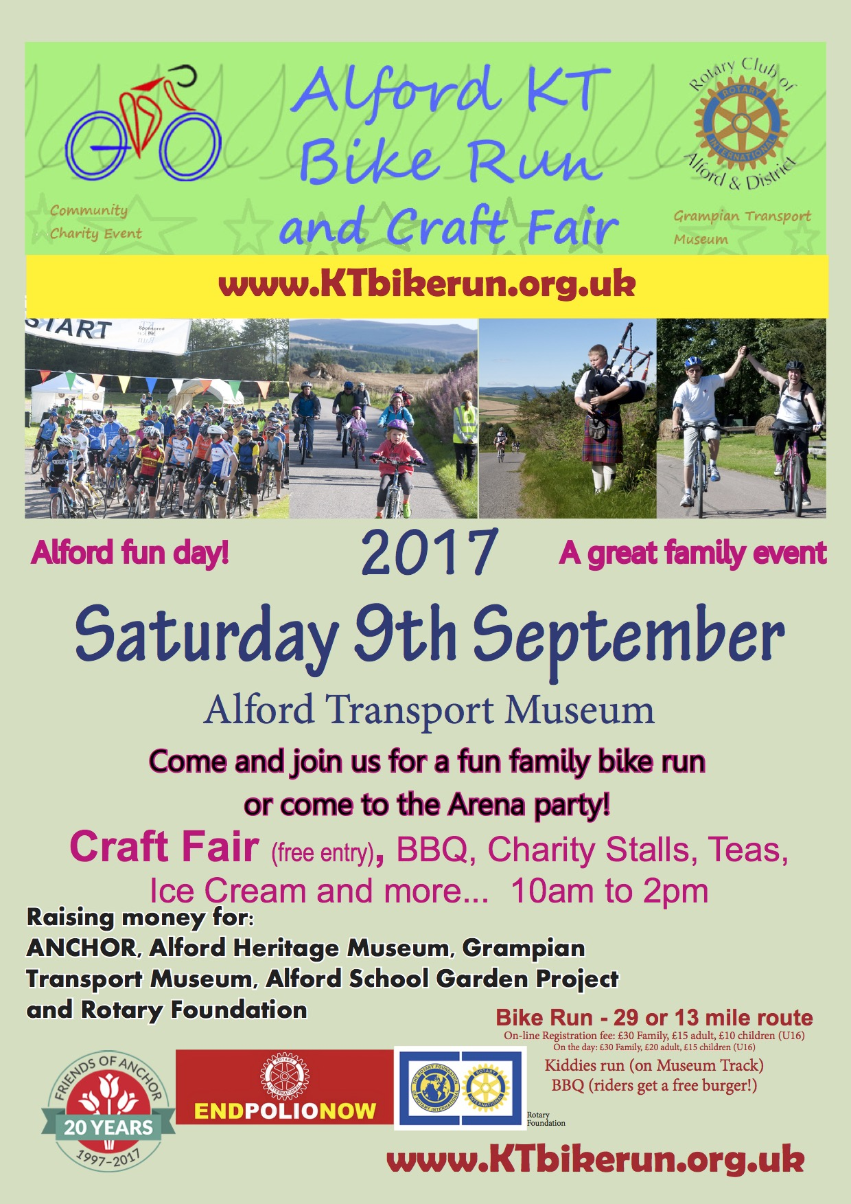 Alford KT Bike Run and Craft Fair Poster